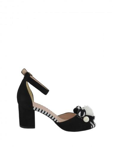 Dámske kožené sandále bielo...