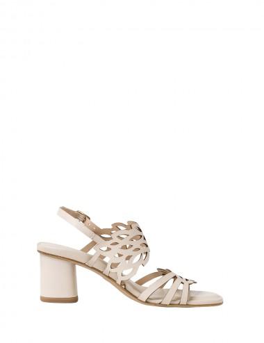 Dámske kožené sandále béžové