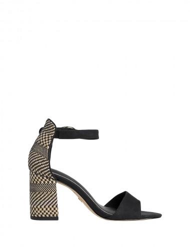 Dámske sandále béžovo - čierne