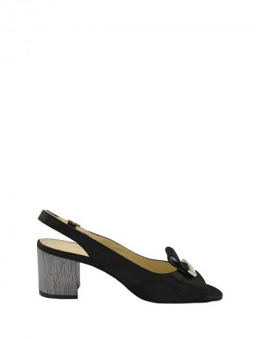 Dámske kožené sandále čierne