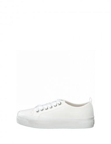 Dámske textilné tenisky biele