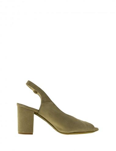 Dámske semišové sandále béžové