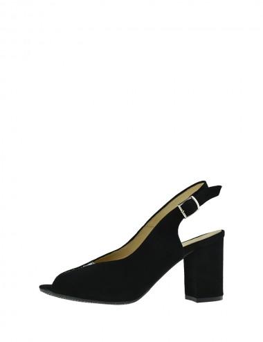 Dámske semišové sandále čierne