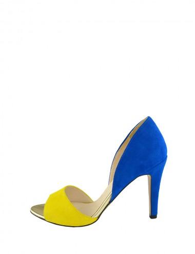 Dámske kožené  sandále žlto...