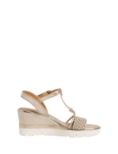 Dámske sandále béžovo - zlaté