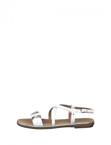 Dámske kožené sandále biele